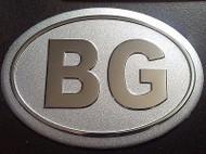 Bulgarian Bulgaria Aluminum BG Country Decal Badge
