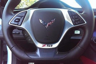 Corvette C7 Singray Z51 Vinyl Decal for Steering Wheel  Red and Black