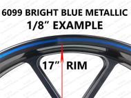 Metallic Bright Blue Rimstripes by Tapeworks - C7 Laguna Blue