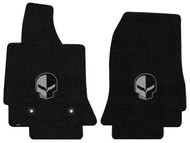 C7 Corvette Floor Mats - Lloyds Mats with Jake Logo: Ultimat - Jet Black