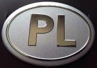 Poland PL Aluminum Country Auto Badge