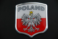 Polish Poland Resin and Aluminium Country Badge with Eagle and Flag