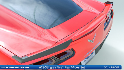 ACS 2014-2017 C7 Stingray Five1 Z51 Wicker Spoiler Conversion Kit