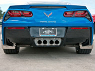 2014-2016 C7 Corvette Stingray - Perforated Exhaust Filler Panel STANDARD Exhaust  by American Car Craft