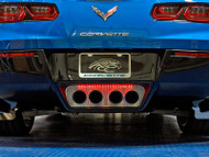 2014-2016 C7 Corvette Stingray - Perforated Illuminated Exhaust Filler Panel STANDARD Exhaust by American Car Craft