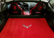 Corvette C7 Red Cargo Mat with Crossed Flags Ulitmat Lloyd Mats