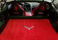 Corvette C7 Red Cargo Mat with Crossed Flags Ulitmat Lloyd Mats