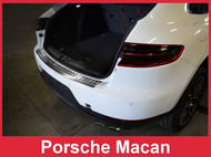2014 + Porsche Macan - Brushed Stainless Steel Rear Bumper Protector