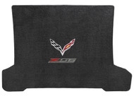 C7 Corvette Coupe Z06 with Crossed Flags Cargo Lloyd Mats Jet Black Ultimat