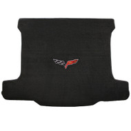 2006-2013 C6 Corvette Z06 Cargo Mat with Crossed Flags Logo - Lloyds Mats: Ultimat - Ebony (600015)