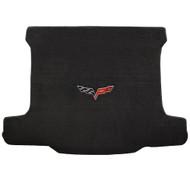 2006-2013 C6 Corvette Z06 Cargo Mat with Crossed Flags Logo - Lloyds Mats: Ultimat - Ebony (600015)