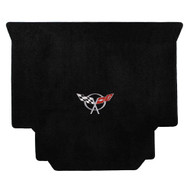 1999-2004 C5 Corvette Hardtop Cargo Mat with Crossed Flags Logo - Lloyds Mats: Ultimat - Black 600019