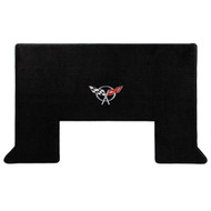 2001-2004 C5 Corvette Z06 Cargo Mat with Crossed Flags Logo - Lloyds Mats: Ultimat - Black (600020)