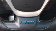 Corvette C7 Grand Sport Steering Wheel Decal - Blue and White