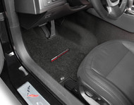 Corvette C7 2017-ON 2PC Grand Sport Logo Floor Mats- Lloyd Mats Ultimat - Jet Black (600300)