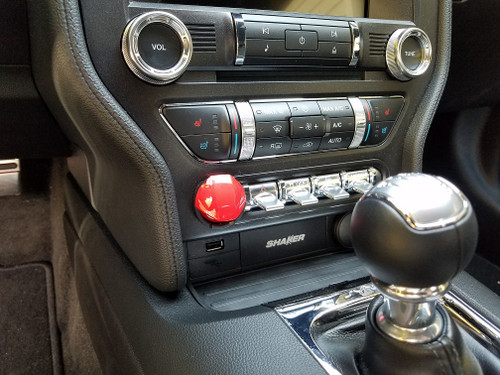 2015-2017 Ford Mustang Start Button Cover red