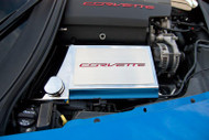 "2014-2018 Corvette Stingray Base Z06 Z51 and Grand Sport - Fuse Box Cover with ""Corvette"" Lettering"