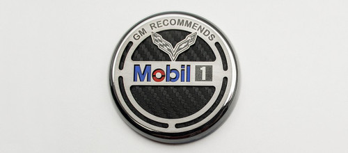 2014-2018 C7 Corvette - Oil Filler Fluid Cap Cover | Commemorative GM Recommends Mobil 1 053097