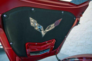 2014-2018 Corvette C7 Stingray - Corvette Flags Logo Hood Emblem 053021