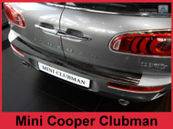 2016 - 2017 Mini Cooper Clubman F54 - Stainless Steel Rear Bumper Protector - Graphite