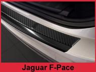 2017 - 2018 Jaguar F-Pace - Carbon Fiber & Black Stainless Steel Rear Bumper Protector