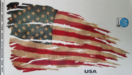 American Flag Decal - Tattered and Distressed Look