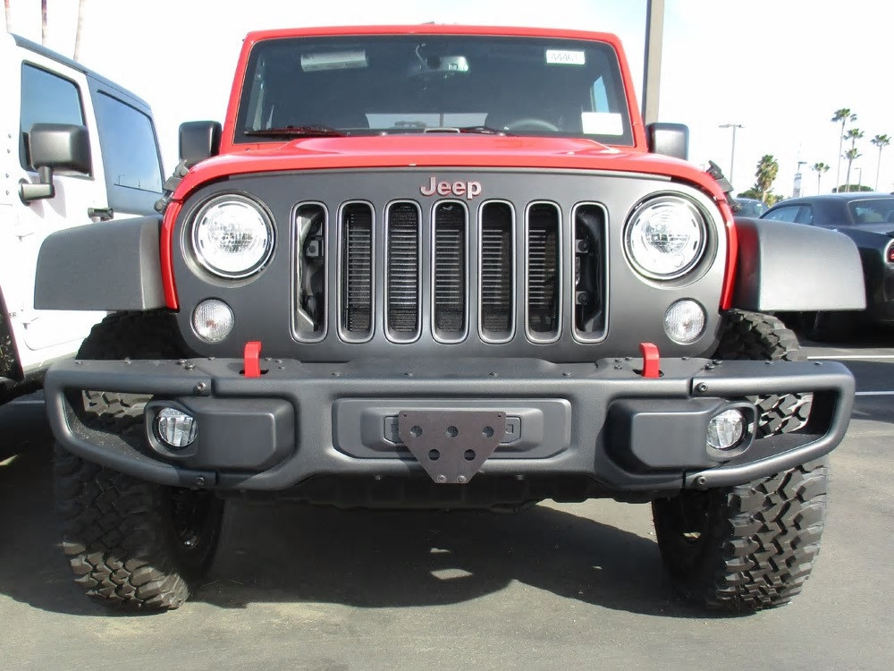 2012 2018 Jeep Wrangler Jk With Metal Bumper Quick Release Front