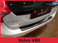 2013-2017 V60 and Cross Country - Graphite Brushed Stainless Steel Rear Bumper Protector Guard