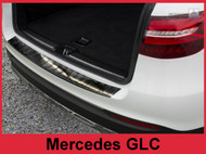 2016 - 2018 Mercedes-Benz GLC - Stainless Steel Rear Bumper Protector Black