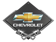Black Diamond Cross Pistons Bowtie Metal Sign Wall Hanging Art - 25x19 (BLBOW2010)