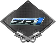 Black Diamond Cross Pistons ZR1 Supercharged Metal Sign Wall Hanging Art - 25x19 (BLZR1)