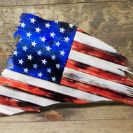 Vintage distress USA FLAG2 24X17