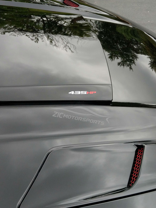 Mustang 435HP Vinyl Decal Silver and Red (mus-435hp-sr)
