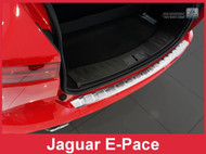 Brushed Stainless Steel Rear Bumper Protector fits 2018 + Jaguar E-Pace
