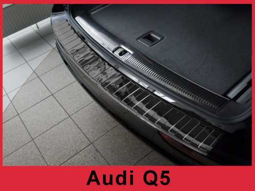 2008 - 2017 Audi Q5 and SQ5- Black Stainless Steel Rear Bumper Protector Guard