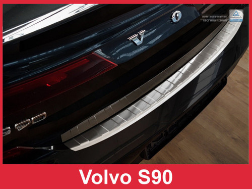 2016 -2018 Volvo S90 - Stainless Steel Rear Bumper Protector Guard