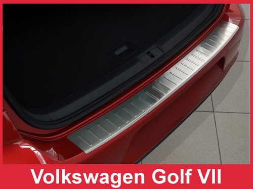 2013-2018 VW Golf - Stainless Steel Rear Bumper Protector