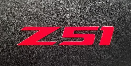 Corvette C7 Red Z51 Decal Sticker