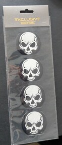 Chrome Skull Center Caps set of 4