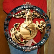 USMC EGA ENLISTED METAL SIGN SEMPER FI 19″x19″ (MCENGRFULL)
