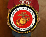 USMC MARINE CORPS LEAGUE STEEL SIGN 19″x19″ (MC1 19X19)