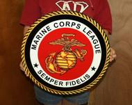 USMC MARINE CORPS LEAGUE STEEL SIGN 19″x19″ (MC1 19X19)