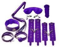 12 Piece Everything Bondage Kit - Purple