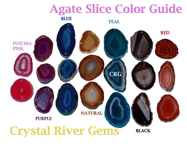 Agate Products Agate Slice Size And Color Crystal River Gems