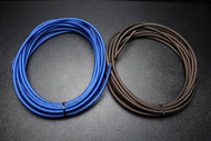 8 GAUGE WIRE 10 FT BLUE 10FT BLACK SUPERFLEX STRANDED POWER GROUND CABLE AMP AWG