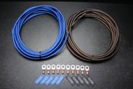 8 GAUGE WIRE 25FT BLUE 25 FT BLACK SUPERFLEX 10PCS COPPER 5/16 RING HEATSHRINK