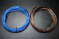 8 GAUGE WIRE 50 FT BLUE 50FT BLACK SHINNY STRANDED POWER GROUND CABLE AMP AWG