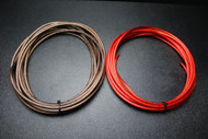 8 GAUGE WIRE 50 FT RED 50FT BLACK SHINNY STRANDED POWER GROUND CABLE AMP AWG