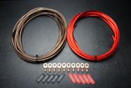 8 GAUGE WIRE 100FT RED 100 FT BLACK SHINNY 10PCS COPPER 5/16 RING HEATSHRINK
