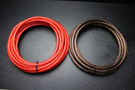 4 GAUGE WIRE 10 FT RED 10FT BLACK SHINNY STRANDED POWER GROUND CABLE AMP AWG